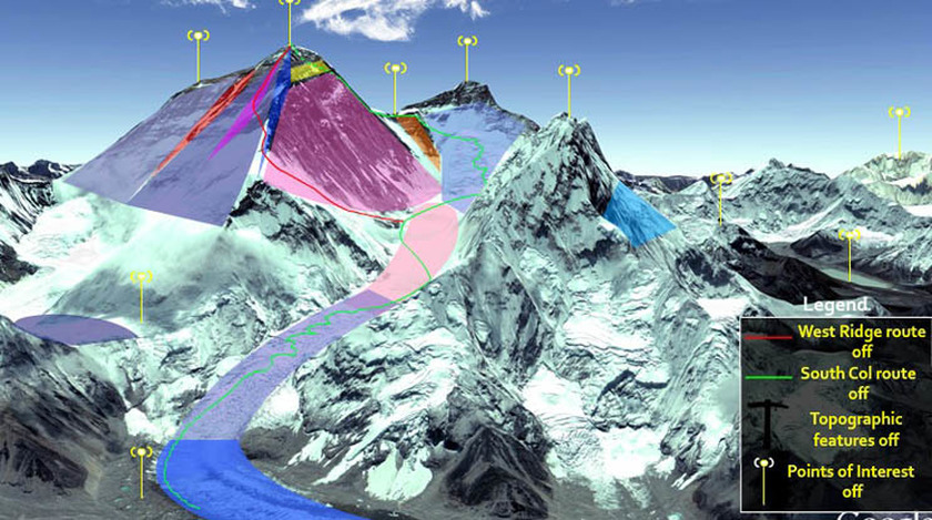 Topographic Maps Of Everest - Interactive topo map